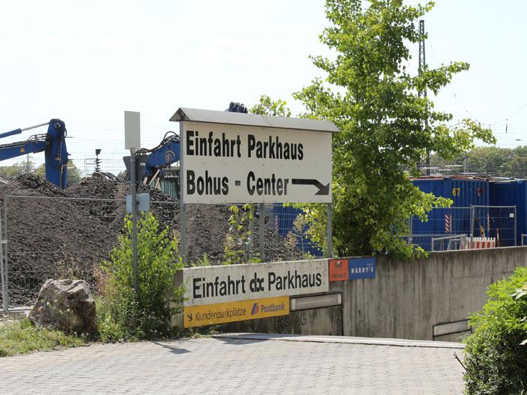 Einfahrt Bohus- und abc-Parkhaus