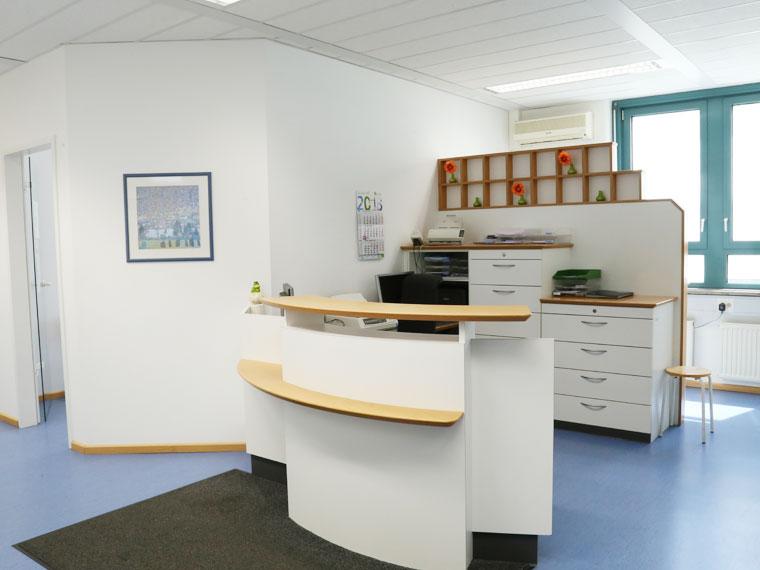 Praxis Empfangsbereich Dr. med. Marc Autenrieth, Lungenfacharzt in Augsburg